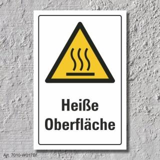 """Warnschild """"Heiße Oberfläche"""", DIN ISO 7010, 3 mm Alu-Verbund"""