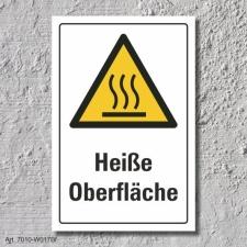 """Warnschild """"Heiße Oberfläche"""", DIN..."""