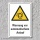 """Warnschild """"Warnung vor automatischem Anlauf"""", DIN ISO 7010, 3 mm Alu-Verbund"""