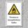 """Warnschild """"Feuergefährliche Stoffe"""", DIN ISO 7010, 3 mm Alu-Verbund"""