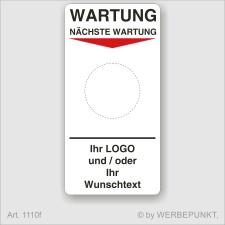 """Grundetikett """"Wartung"""", 45 x 90 mm, BGR, UVV,..."""