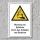 """Warnschild """"Gefahr durch aufladen von Batterien"""", DIN ISO 7010, 3 mm Alu-Verbund"""
