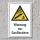 """Warnschild """"Warnung vor Gasflaschen"""", DIN ISO 7010, 3 mm Alu-Verbund"""