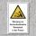 """Warnschild """"Hoschnellende Werkstücke, Presse"""", DIN ISO 7010, 3 mm Alu-Verbund"""