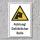 """Warnschild """"Gefährlicher Bulle"""", DIN ISO 7010, 3 mm Alu-Verbund"""