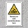 """Warnschild """"Nicht durchtrittsicheres Dach"""", DIN ISO 7010, 3 mm Alu-Verbund"""