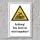 """Warnschild """"Dach nicht begehbar"""", DIN ISO 7010, 3 mm Alu-Verbund"""