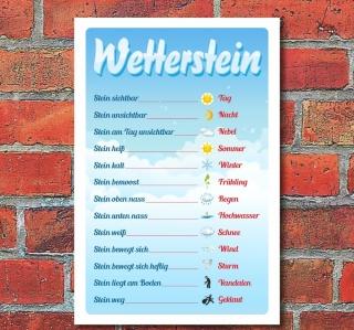 """Schild """"Wetterstein"""", 3 mm Alu-Verbund"""