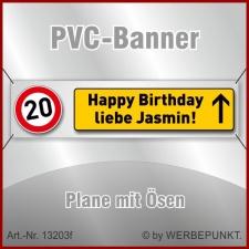 20. Geburtstag, Banner, Plane, Geschenk,...