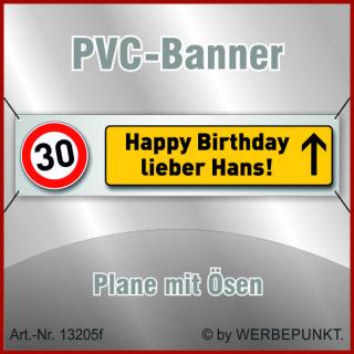 30. Geburtstag, Banner, Plane, Geschenk, Überraschung 400x100 cm mit Ösen