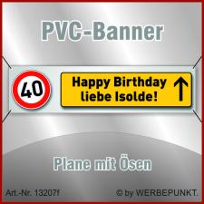 40. Geburtstag, Banner, Plane, Geschenk,...