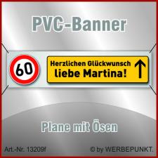 50. Geburtstag, Banner, Plane, Geschenk,...