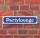 """Schild im Straßenschild-Design """"Partylounge"""" - 3 mm Alu-Verbund - 52 x 11 cm"""