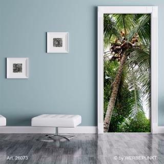 "Türtapete ""Palme, Kokosnuss"", Türposter, selbstklebend 2050 x 880 mm"