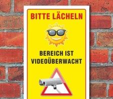 Schild Objekt Alarmgesichert & Videoüberwacht, 3...