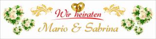"""Banner Plane """"Hochzeit 1"""" Geschenk Feier Just married Hochzeitsdeko mit Ösen"""