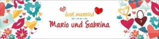 """Banner Plane """"Hochzeit 2"""" Geschenk Feier Just married Hochzeitsdeko mit Ösen"""
