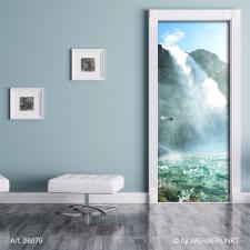 "Türtapete ""Wilder Wasserfall, Natur"",..."