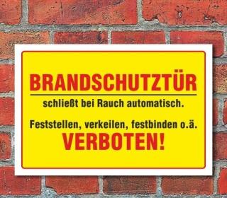 """Schild """"Brandschutztür"""" 3mm Alu-Verbund"""