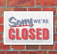 Vintage Schild Retro Deko Closed geschlossen, 300 x 200 mm