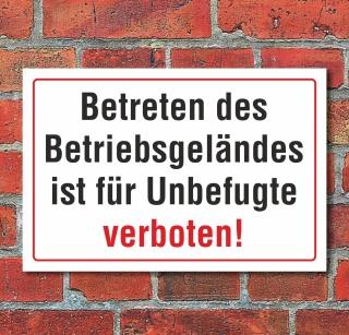 """3 mm Alu-Verbund Schild /""""Plakatieren verboten/"""""""