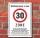 Schild Zone 30 Geburtstag Geschenk lustig spruch 3mm Alu-Verbund