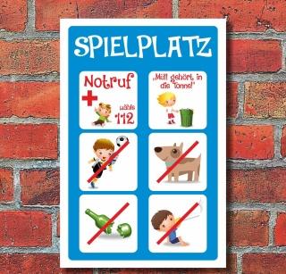 """Schild """"Spielplatz, Kinder"""" 3mm Alu-Verbund"""