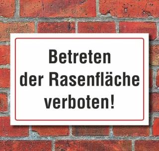 Schild Betreten der Rasenfläche verboten, 3 mm Alu-Verbund