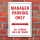 Schild American Style Deko Manager parking Parkverbot