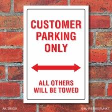 Schild American Style Deko Customer parking Parkverbot