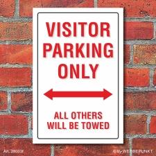 Schild American Style Deko Visitor parking Parkverbot,...