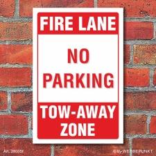 Schild American Style Deko Fire lane Parkverbot