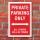 Schild American Style Deko Private parking rot Parkverbot