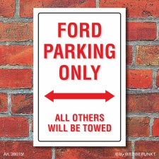 Schild American Style Deko Ford parking Parkverbot