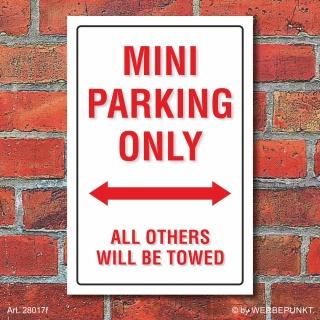 Schild American Style Deko Mini parking Parkverbot
