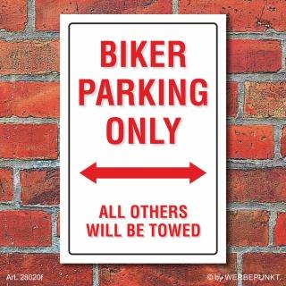 Schild American Style Deko Biker parking Parkverbot