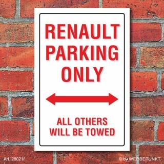 Schild American Style Deko Renault parking Parkverbot