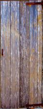 "Türtapete ""Holztür, rustikal, alt, Bretter"", Türposter, selbstklebend 2050 x 880 mm"