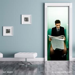 "Türtapete ""Toilette, Mann"", Türposter, selbstklebend 2050 x 880 mm"