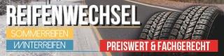 PVC Werbebanner Plane Reifenwechsel Sommerreifen Winterreifen Rad mit Ösen