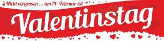 """PVC Werbebanner,  Plane """"Valentinstag"""", mit Ösen,"""