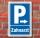 "Schild ""Parkplatz Zahnarzt, rechts"", Privatparkplatz Parken Hinweisschild"