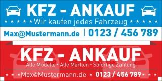 """PVC Werbebanner Banner Plane """"KFZ Ankauf Service Verkauf"""" mit Ösen,"""