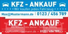 """PVC Werbebanner Banner Plane """"KFZ Ankauf Service..."""