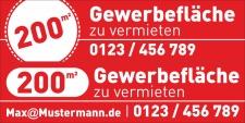 """PVC Werbebanner Banner Plane """"Gewerbefläche zu..."""