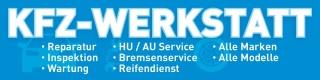 """PVC Werbebanner Banner Plane """"KFZ Werkstatt Reparatur Wartung"""" mit Ösen,"""