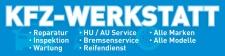 """PVC Werbebanner Banner Plane """"KFZ Werkstatt..."""