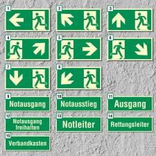 Notausgang Fluchtwegschild Rettungswegschild Schild...