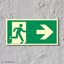 5. Rettungsweg Rechts - Schild 300 x 150 mm