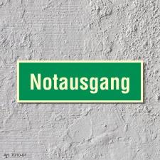 9. Notausgang  - Schild 300 x 100 mm